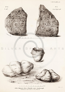 Vintage 1800s Sepia Illustration of Ancient Rock - MISCELLANEOUS TRACTS RELATING TO ANTIQUITY by Society of Antiquaries in London.