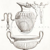 Vintage 1800s Sepia Illustration of Greek Vase.