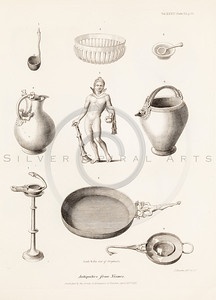Vintage 1800s Sepia Illustration of Antiquities from Nismes - MISCELLANEOUS TRACTS RELATING TO ANTIQUITY by Society of Antiquaries in London.