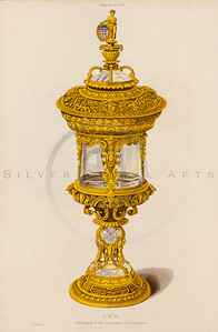 Vintage illustration of a Golden Lantern from DRESSES & DECORATI