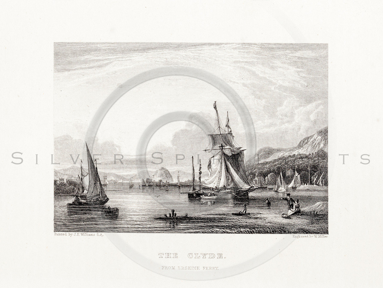 Vintage 1800s Sepia Steel Engraving Illustration of a Port with Ships from THE LIBRARY OF CHOICE LITERATURE by Ainsworth Spofford.  The natural patina, age-toning, imperfections, and old paper antiquing of this vintage 19th century illustration are preserved in this image.