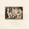 Vintage 1700s Sepia Illustration of Child-Birth - FRAGMENTS OF THE HOLY SCRIPTURES by Calmet.