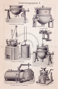 Vintage illustration of Steampunk Mechanical Machinery from Meyers Konversations Lexikon 1913 Encyclopedia.  Antique digital download of old print - machine; machinery; mechanical; steampunk; equipment; industry.  The natural age-toning, paper stains, and antique printing imperfections are preserved in this 1900s stock image.