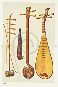 Hipkins Musical Instruments Vintage Color Illustration