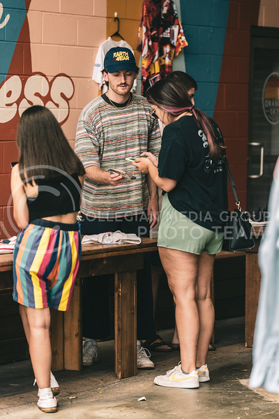 Back to school vintage pop-up, located in Public Hall back patio on Aug 21. (Dylan Connell | Collegian Media Group)