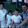 Brooks family, June 1963. This is how I remember them, which makes sense, since I graduated in 1964 and didn't travel with the family after that.