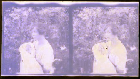 Old negative of Nana with Mom, obviously 1921.