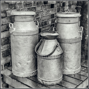 London Dairies Milk Churns