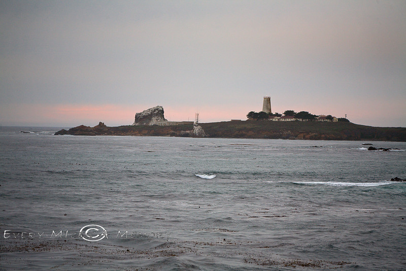The Piedras Blancas Lighthouse off  the San Simeon Coastline - Photo by Pat Bonish