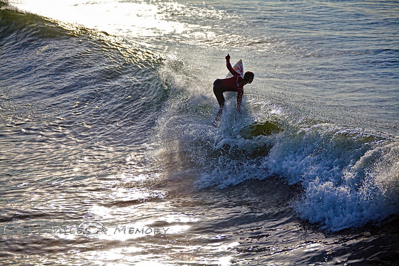 Riding the Swell at Avila Beach - VW Surfari - Photo by Pat Bonish