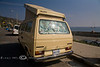 The Perfect California Beach Mobile - VW Surfari - Photo by Pat Bonish