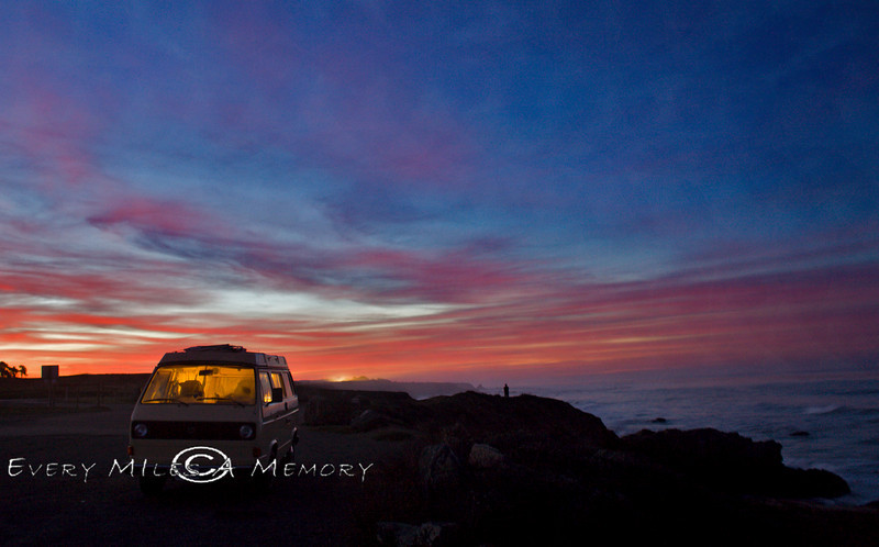 Why you want to be using a VW Surfari as your Photo Hunt Vehicle - San Simeon Beach - Photo by Pat Bonish