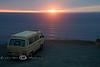 Sunset over the Pacific Ocean on a VW Surfari - Photo by Pat Bonish