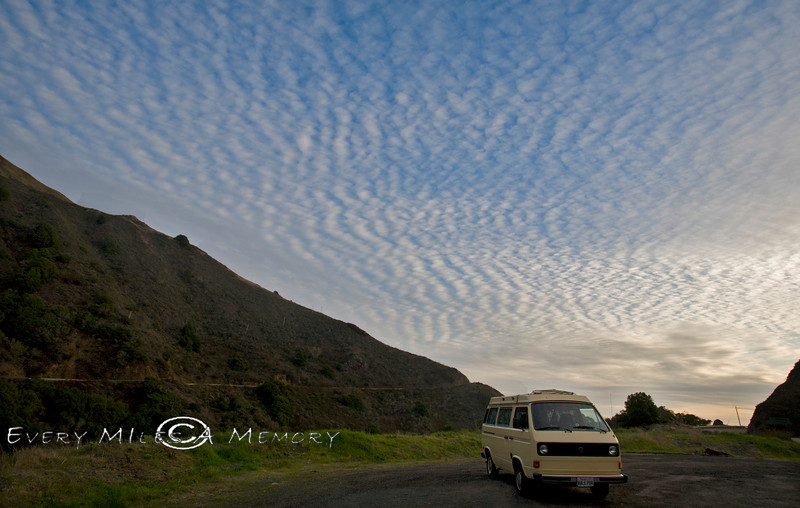 The Pacific Coast Highway offers some Beautiful Sunsets - VW Surfari - Photo by Pat Bonish