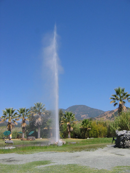 Calistoga Springs geyser in the Napa Valley