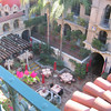 Peering down into the central courtyard, The Mission Inn, Riverside