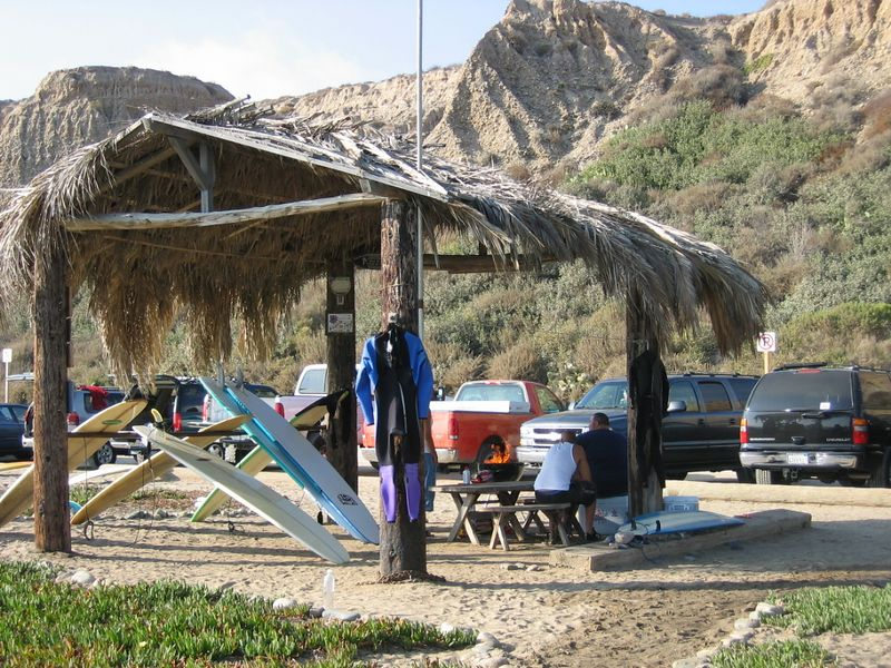 A surf hut at San Onofre.