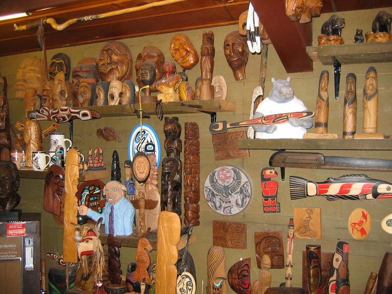 The incraedible array of traded-for native Indian art on display at the Famous Tomahawk BBQ.