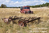 Farm equipment and Bill Altaffer's 1948 International Truck near Devil's Tower Wyoming