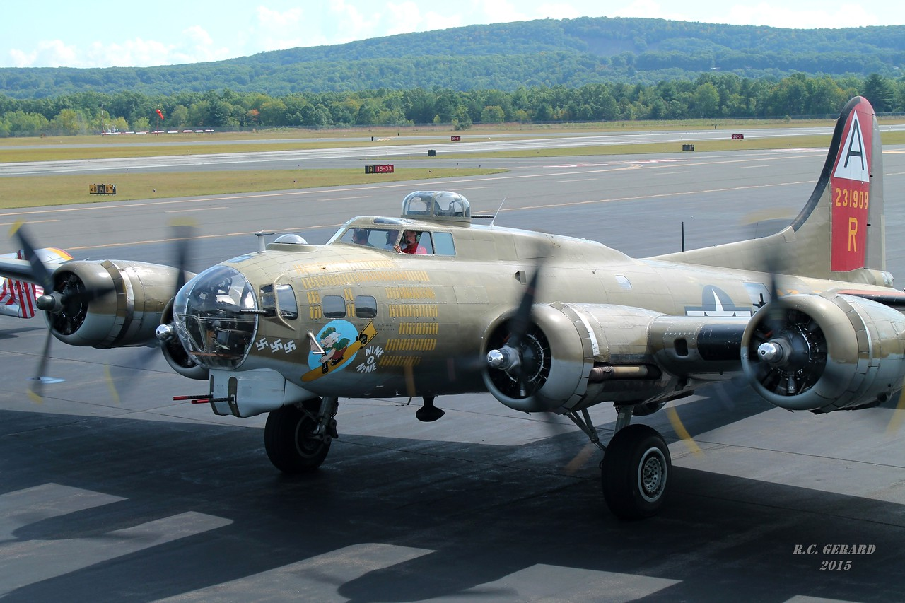 Collings Foundation B-17G '909' at Barnes Municipal Airport- Westfield, MA.