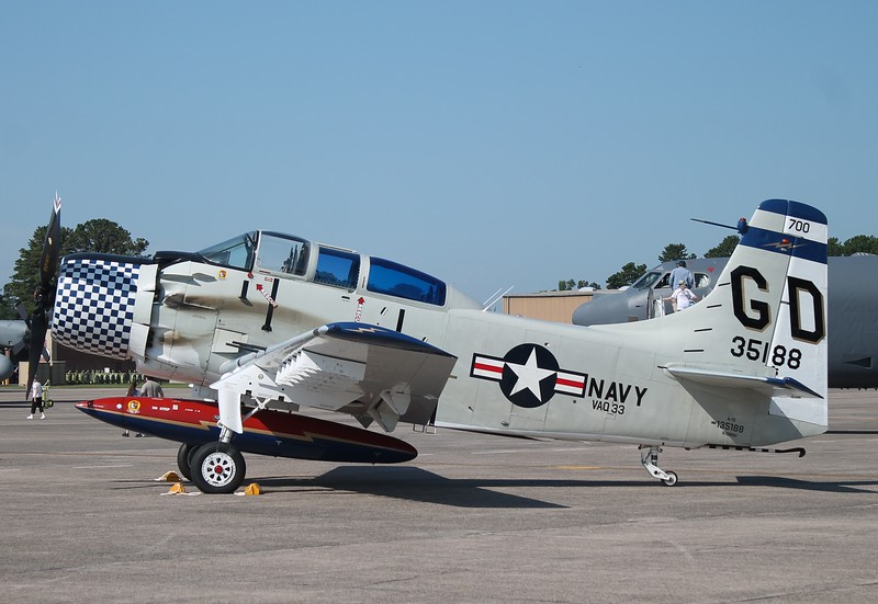 Collings Foundation A-1E Skyraider at KBDL