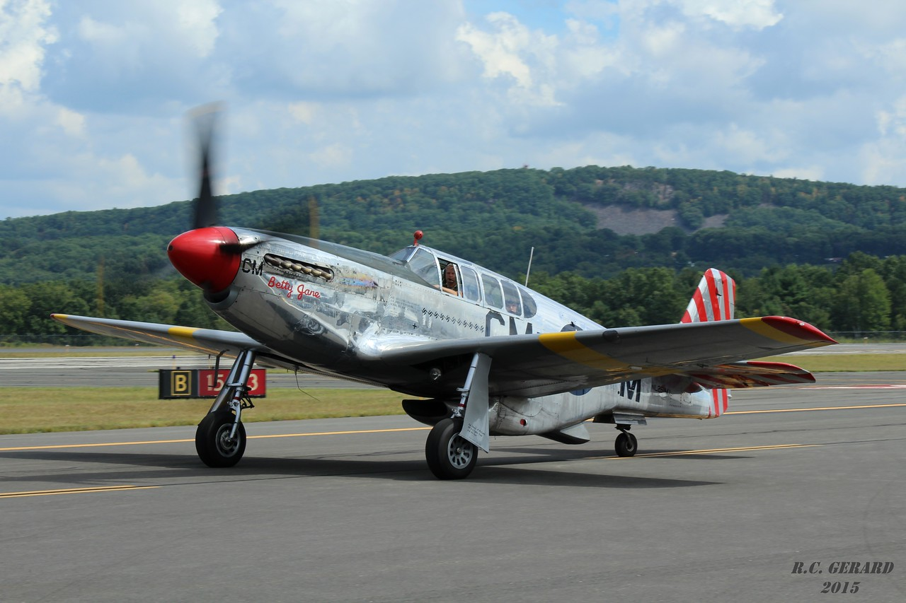 Collings Foundation P-51C 'Betty Jane' at Barnes Municipal Airport- Westfield, MA.