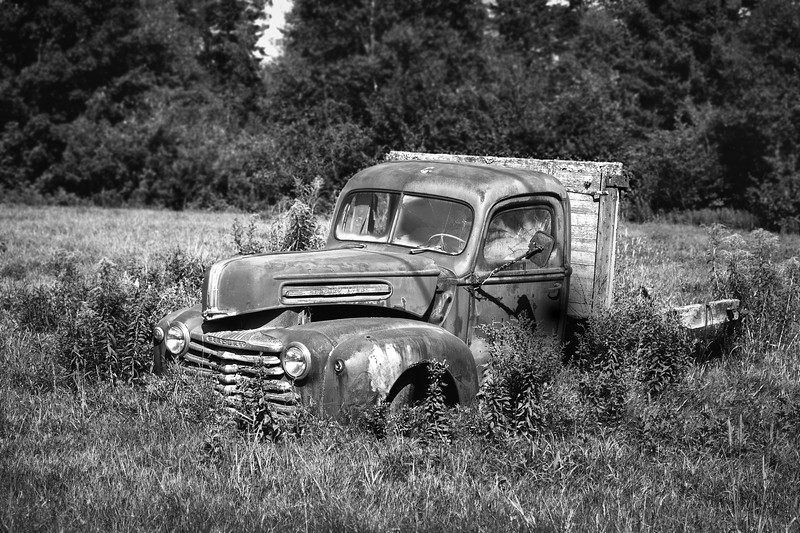 Late 40's Mercury 1-Ton Truck Abandoned in a Field - Rockport, New Brunswick