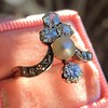 1.00ctw Antique Victorian Diamond and Pearl Tiara Ring 3