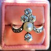 1.00ctw Antique Victorian Diamond and Pearl Tiara Ring 13