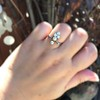 1.00ctw Antique Victorian Diamond and Pearl Tiara Ring 7