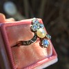 1.00ctw Antique Victorian Diamond and Pearl Tiara Ring 5