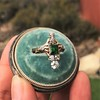 1.01ctw Victorian Emerald (syn) and Diamond Dinner Ring 9