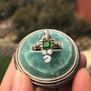 1.01ctw Victorian Emerald (syn) and Diamond Dinner Ring 6