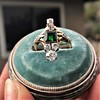 1.01ctw Victorian Emerald (syn) and Diamond Dinner Ring 12
