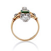 1.01ctw Victorian Emerald (syn) and Diamond Dinner Ring 3
