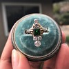 1.01ctw Victorian Emerald (syn) and Diamond Dinner Ring 11