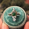 1.01ctw Victorian Emerald (syn) and Diamond Dinner Ring 7