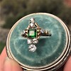 1.01ctw Victorian Emerald (syn) and Diamond Dinner Ring 8