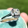 1.02ctw Vintage Old Mine Cut Diamond Halo Ring 8