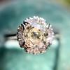 1.02ctw Vintage Old Mine Cut Diamond Halo Ring 16