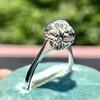 1.02ctw Vintage Old Mine Cut Diamond Halo Ring 11