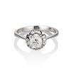 1.02ctw Vintage Old Mine Cut Diamond Halo Ring 0