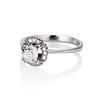 1.02ctw Vintage Old Mine Cut Diamond Halo Ring 1