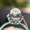 1.02ctw Vintage Old Mine Cut Diamond Halo Ring 12
