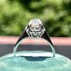 1.02ctw Vintage Old Mine Cut Diamond Halo Ring 7