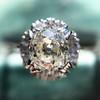 1.02ctw Vintage Old Mine Cut Diamond Halo Ring 17
