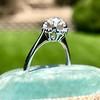 1.02ctw Vintage Old Mine Cut Diamond Halo Ring 5