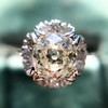 1.02ctw Vintage Old Mine Cut Diamond Halo Ring 10