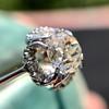 1.02ctw Vintage Old Mine Cut Diamond Halo Ring 13