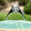 1.02ctw Vintage Old Mine Cut Diamond Halo Ring 19